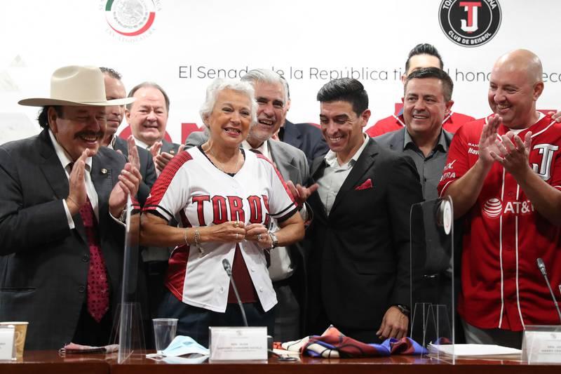Los Toros de Tijuana recibieron un reconocimiento por parte del Senado de la República