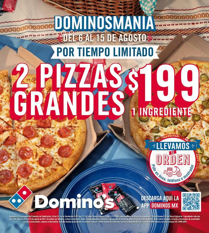 Anuncio Dominos edición CDMX del 6 de Agosto del 2021, Página 7