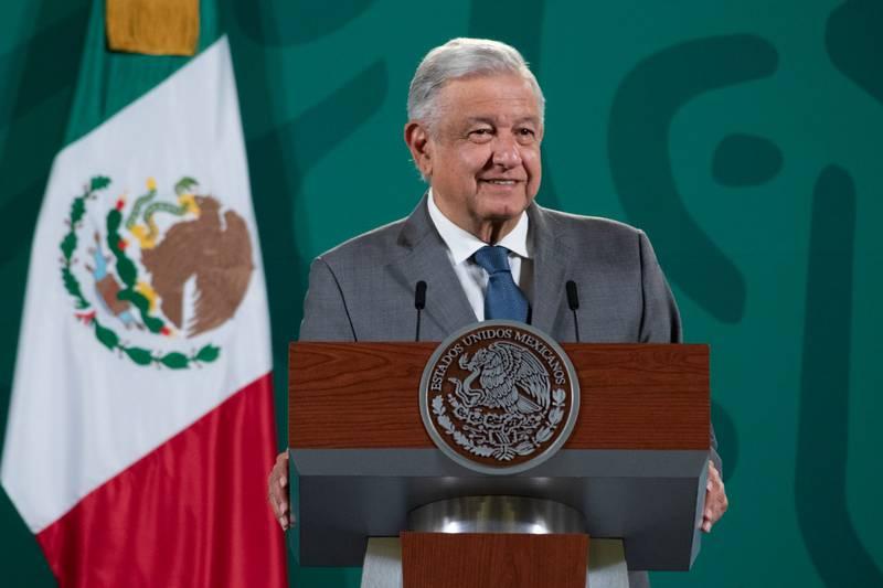 El presidente Andrés Manuel durante la conferencia de prensa matutina