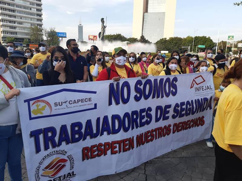 Los trabajadores en los últimos meses han realizado tres manifestaciones por presuntas violaciones a sus derechos.