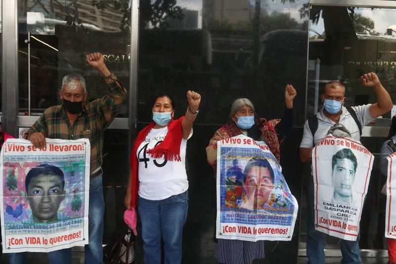 Familiares caso Ayotzinapa