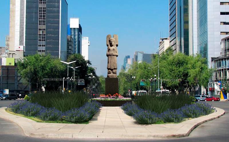 'La Joven de Amajac' suplirá a Colón en Reforma.