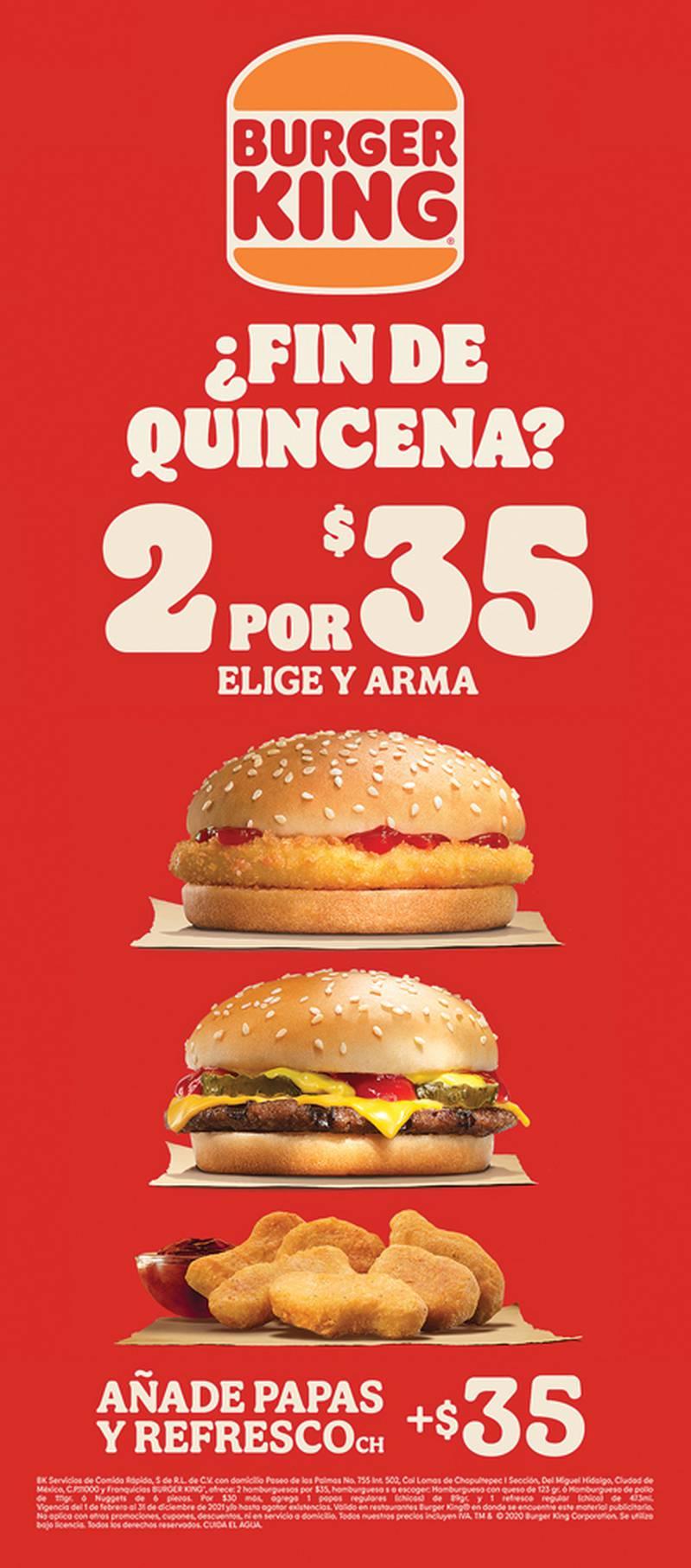 Anuncio Burger King edición CDMX del 12 de Julio del 2021, Página 13