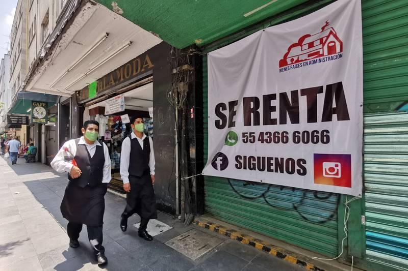 Muchos negocios tuvieron que cerrar tras no poder sortear la baja de la actividad económica derivada de la pandemia de Covid-19.