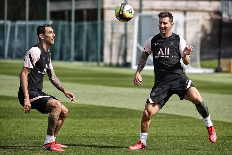 Así se fue el primer entrenamiento de Messi con el PSG