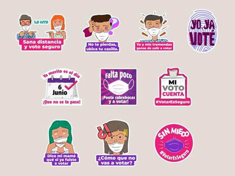 Stickers sobre elecciones.