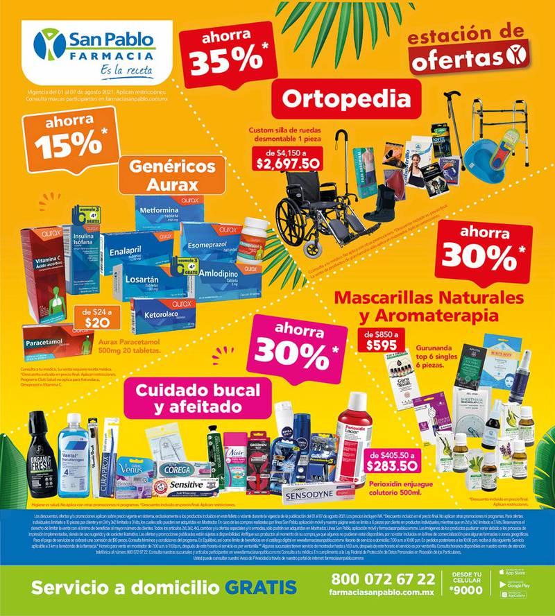 Anuncio Farmacia San Pablo edición CDMX del 3 de Agosto del 2021, Página 16