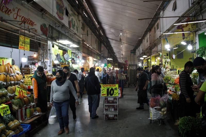 Central de Abasto en la CDMX.