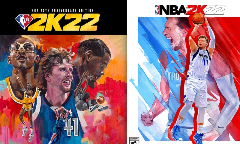 Doncic, Abdul-Jabbar, Nowitzki y Durant en la portada de NBA 2K22