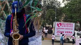 Mujeres piden libertad de Juan Vera, acusado de ordenar ataque con ácido a saxofonista