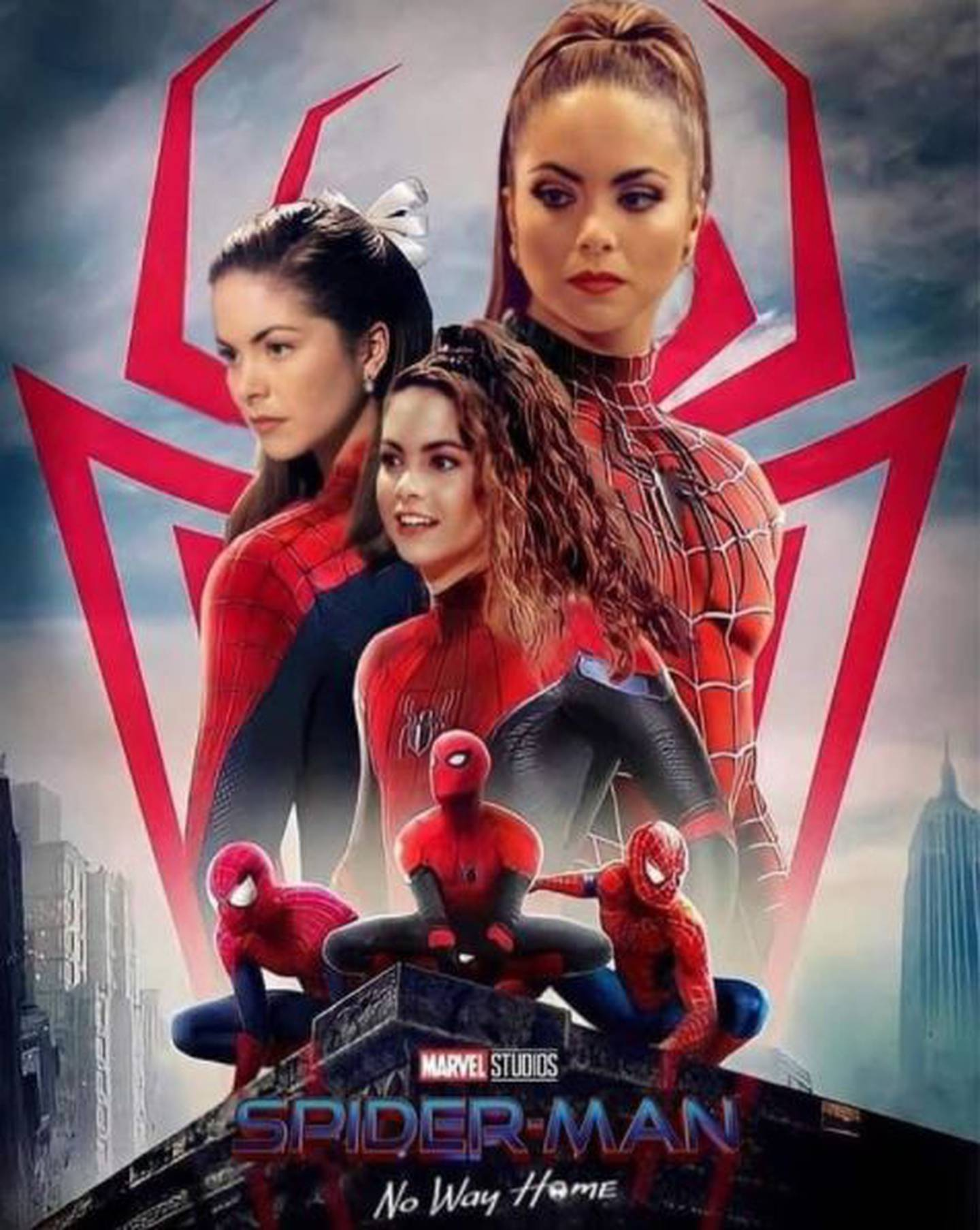Memes del multiverso de Spider-man que incluyen a Lucero, Thalía y Gaby Spanic