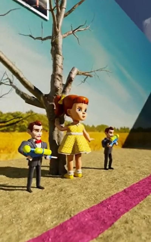 """Cada uno de los divertidos personajes de 'Toy Story' participó en el reto """"Luz roja, luz verde"""" de la arrasadora serie """"El Juego del Calamar""""."""