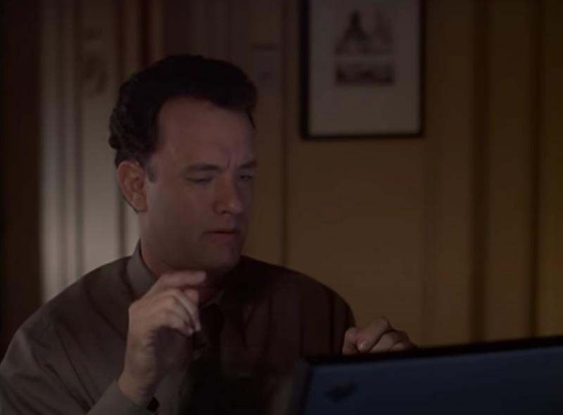 Tom Hanks protagonizó el filme junto a Meg Ryan