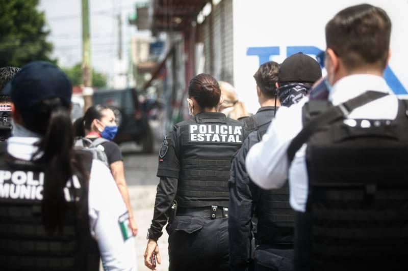 Operativo de la Fiscalía del Estado de Jalisco.