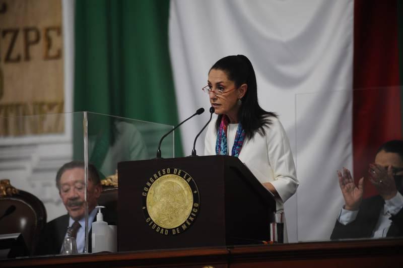 Claudia Sheinbaum, jefa de gobierno, en Tercer Informe.