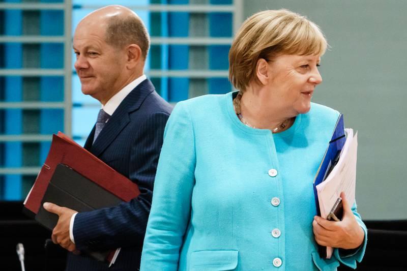 Olaf Scholz, ministro de Hacienda del Gobierno de Merkel, se perfila para convertirse en canciller. FOTO: Clemens Bilan Pool/Getty Images