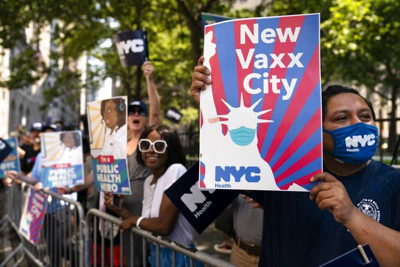 Nueva York: Certificado de vacunación para restaurantes y gimnasios