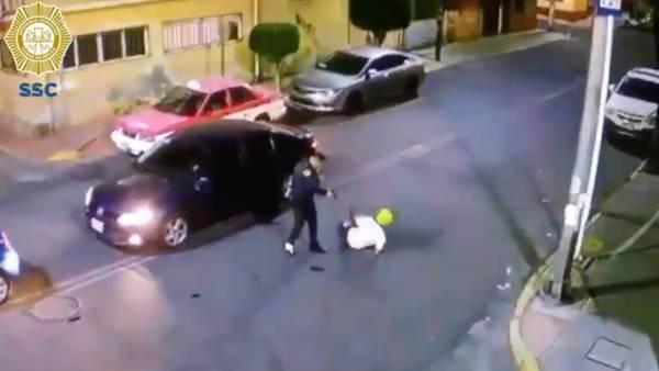 Policía capitalino impide asalto en calles de Iztacalco