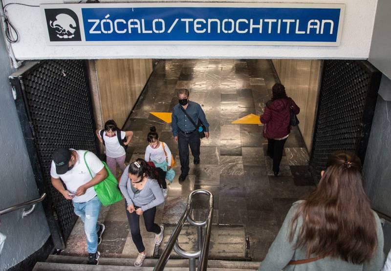 Metro Zócalo en la Ciudad de México.