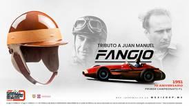 Ganador de la Pole Position en México recibirá casco de Juan Manuel Fangio