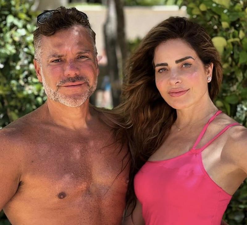 Armando Gómez Martínez y Gloria Trevi