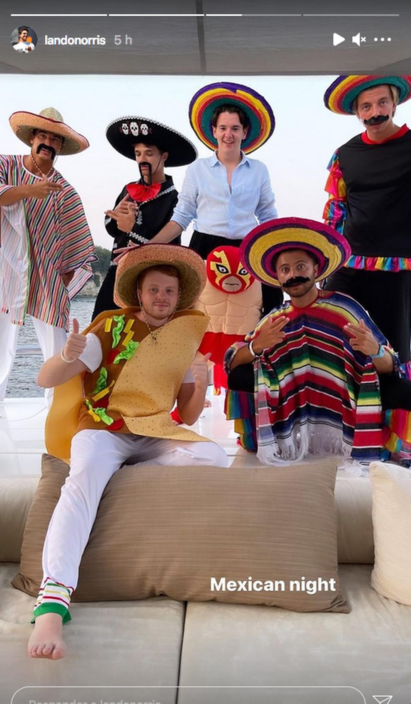 Lando Norris es criticado por realizar 'fiesta mexicana'